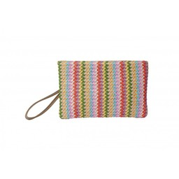 Malissa J Zip Fabric Wallet - Multicoloured