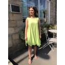 Tess Frill Hem T Shirt Dress - Lime Green