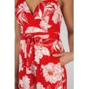 Floral Chiffon Jumpsuit - Red - Alternative 3