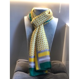 Malissa J Abstract Scarf - Yellow