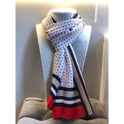 Malissa J Abstract Scarf - Grey
