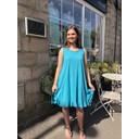 Tess Frill Hem T Shirt Dress - Turquoise