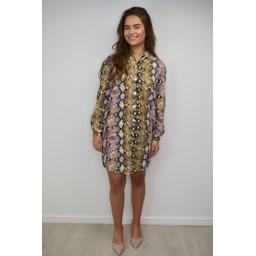 Lucy Cobb Snakeskin Shirt Dress - Snake Print