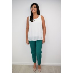 Robell Trousers Bella 09 7/8 Trousers in Emerald Green