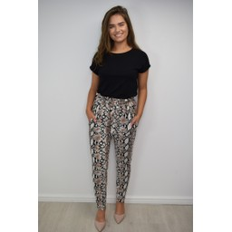 Lucy Cobb Snake Joggers - Snake Print