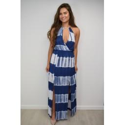 Lucy Cobb Tania Tye Dye Halterneck Maxi - Blue