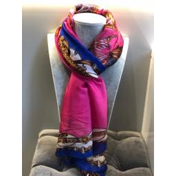 Malissa J Handbag Print Scarf - Pink