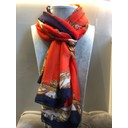 Handbag Print Scarf - Red