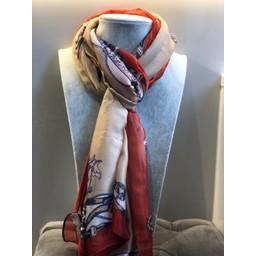 Malissa J Handbag Print Scarf - Taupe