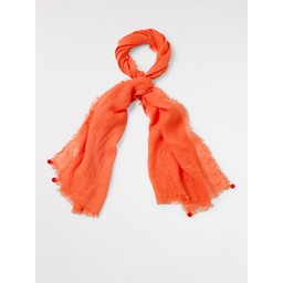 White Stuff Savannah Linen Scarf - Coral