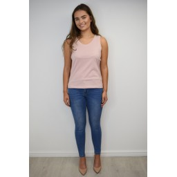 Alice Collins Plain Vest Top - Rose