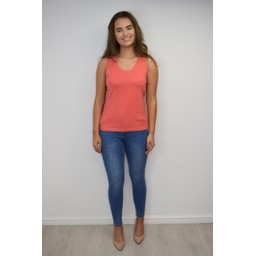 Alice Collins Plain Vest Top - Sunset