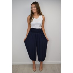 Lucy Cobb Hallie Harem Trousers in Navy