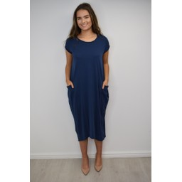 Lucy Cobb Taylor T Shirt Dress in Navy