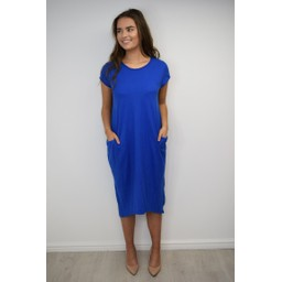 Lucy Cobb Taylor T Shirt Dress in Royal