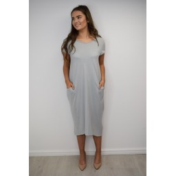 Lucy Cobb Taylor T Shirt Dress in Grey