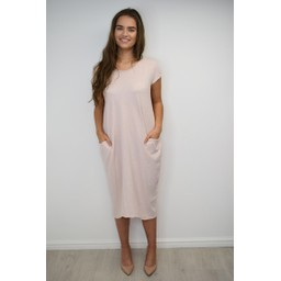 Lucy Cobb Taylor T Shirt Dress in Blush Pink