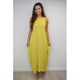 Lucy Cobb Tara Sleeveless Panel Dress - Yellow