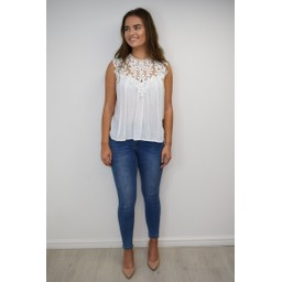 Lucy Cobb Charlotte Lace Top - White
