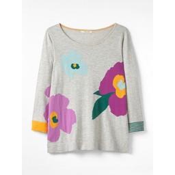 White Stuff Summer Bloom Jumper - Grey Mix