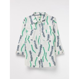 White Stuff Spring Linen Shirt - White Multi