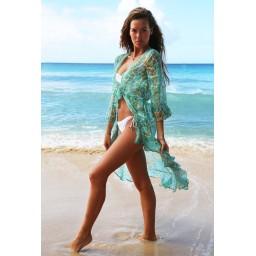 Sophia Alexia Tahiti Kimono - Aqua Pebbles