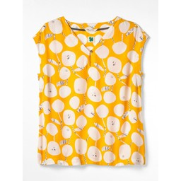 White Stuff Aster Top - Yellow Floral