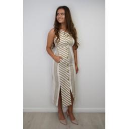 Lucy Cobb Stella Striped Maxi - Neutral