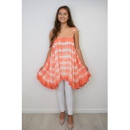 Malissa J Tie Dye Swing Top in Coral