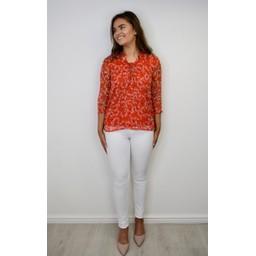 Fransa FDRA Organza 2 Shirt - Red Floral