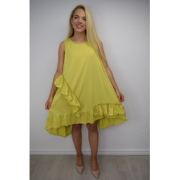 Lucy Cobb Elle Frill Dress in Pistachio