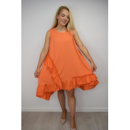 Lucy Cobb Elle Frill Dress - Orange