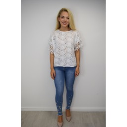 Lucy Cobb Kendal Broderie Anglaise Top - White