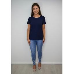 Fransa Zashoulder 1 T-shirt - Navy