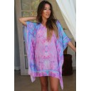 Silk Kaftan Short - Fantasy Pink - Alternative 1