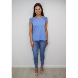 Fransa FR Dilace 2 Top - Cornflower Blue