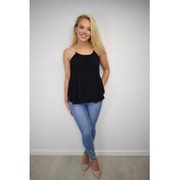 Lucy Cobb  Devan Diamante Strap Vest - Black