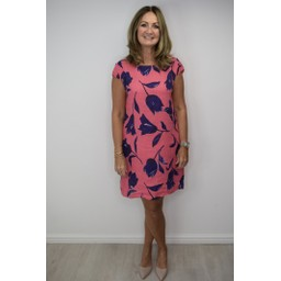 Lucy Cobb Tulip Linen Dress in Fuchsia