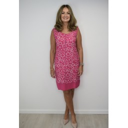Alice Collins Harriet Dress in Fuchsia Circle