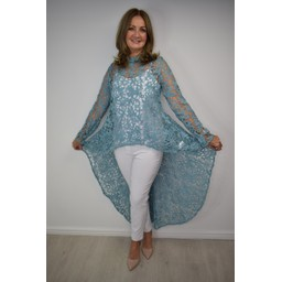 Lucy Cobb Lauren Lace Top - Mint