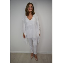 Lucy Cobb Kaitlyn Kaftan in White