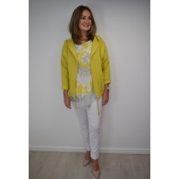 Lucy Cobb Harper Hooded Jacket in Chartreuse