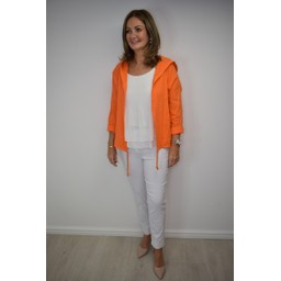 Lucy Cobb Harper Hooded Jacket - Orange