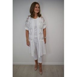 Lucy Cobb Ibiza Kaftan Long - White