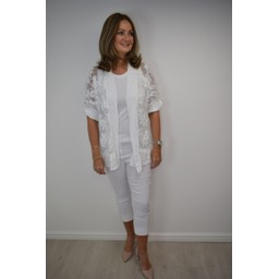 Lucy Cobb Ibiza Kaftan Short - White