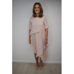 Lucy Cobb Anita Asymmetric Tunic - Blush Pink