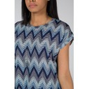 Allie Aztec Oversized Top - Blue - Alternative 3