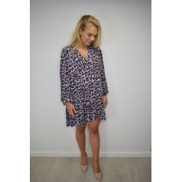Lucy Cobb Millie Animal Print Tunic in Purple