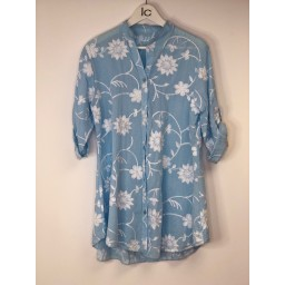 Lucy Cobb Embroidery Shirt - Pale Blue
