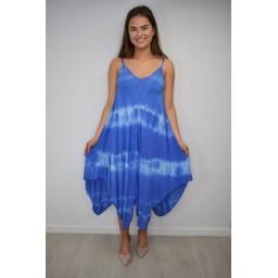 Lucy Cobb Tahiti Tie Dye Dress - Blue